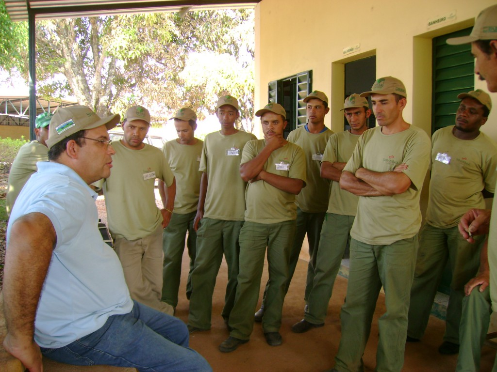 A training session with the staff